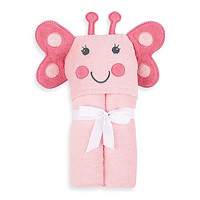Just Bath by Just Born™ Love to Bathe Woven Butterfly Hooded Towel in Pink
