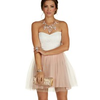 Pink Darling Tulle On The Block Dress