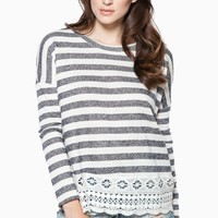 ShopSosie Style : Skyler Striped Sweater