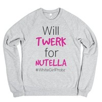 #WhiteGirlProbz-Unisex Heather Grey Sweatshirt
