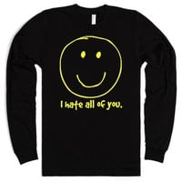 I Hate All Of You-Unisex Black T-Shirt