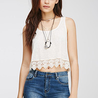 Boxy Crochet-Trimmed Top