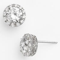 Women's Nordstrom Pave Round Stud Earrings - Round