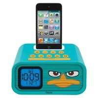 """eKids Phineas and Ferb """"Agent P"""" Dual Alarm Clock and 30-Pin iPod Speaker Dock, by iHome - DF-H22"""