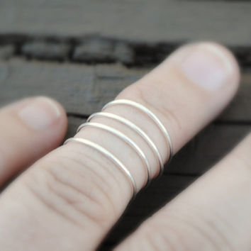 Toe or Knuckle Wire Wrapped Ring Round and Round