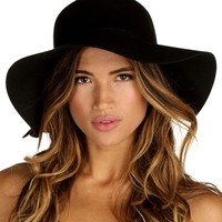 Black Fall Floppy Hat