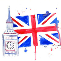 London - Original Watercolor illustration