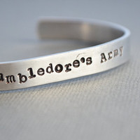 Dumbledore's Army Harry Potter Bracelet Hand Stamped