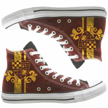 Harry Potter Gryffindor painted shoes, custom shoes by natalshoes