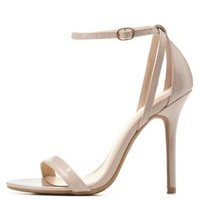 Single Sole Ankle Strap Heels by Charlotte Russe