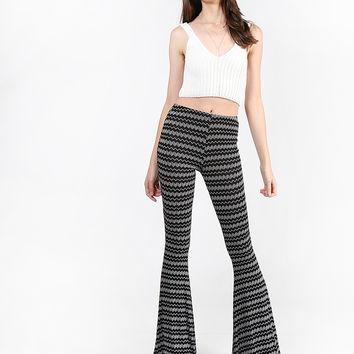 Aztec Striped Flared Pants