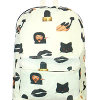 BAD BITCH EMOJI BACKPACK - One