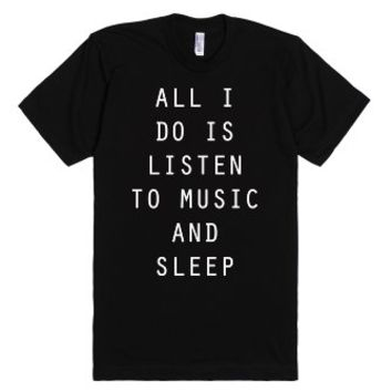 My life be like-Unisex Black T-Shirt