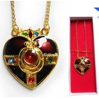 Sailor Moon Pretty Soldier Red Heart Necklace