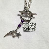 I love my Soldier Necklace with angel wing charm and star charm