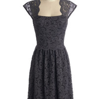 ModCloth Mid-length Cap Sleeves A-line Refined the Way Dress