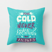 Frozen: The Cold Never Bothered Me Anyway Throw Pillow by Risa Rodil