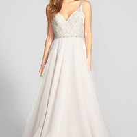 Women's Hayley Paige 'Roxanne' Beaded Bodice Gown ,