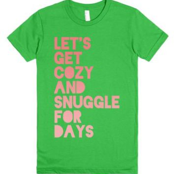Let's Get Cozy (Juniors)-Female Grass T-Shirt