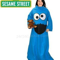 Cookies Monster Throw With Sleeves