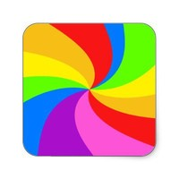Rainbow Swirl Party Favor Stickers from OOPSY