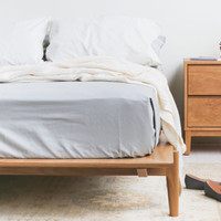 Solid White Oak Platform Bed