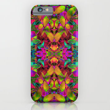 Fractal Floral Abstract G285 iPhone & iPod Case by MedusArt