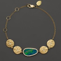 Meira T 14K Yellow Gold Opal Disc Bracelet with Diamonds | Bloomingdales's