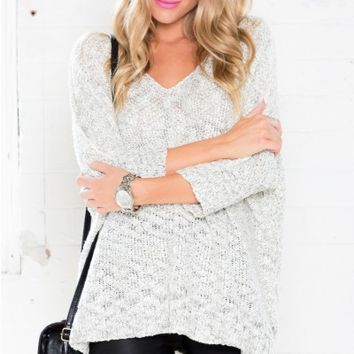 Out Of Time Sweater in Cream