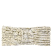 With Love From CA Lurex Knot Headwrap - Womens Hat - White - One