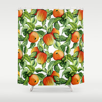 Ripe apples Shower Curtain by Julia Badeeva