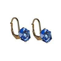 Alex and Ani Sapphire Truth Earrings - 14kt Gold Filled