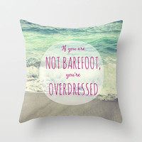 Barefoot Summer Throw Pillow by SabineD