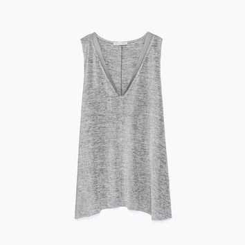 T-shirt with edging detail