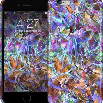 Floral Abstract Stained Glass G39 iPhone Cases & Skins by Medusa GraphicArt | Nuvango