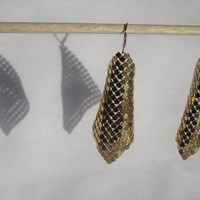 Shiny Gold Mesh Earrings by MilieuJewelry on Etsy