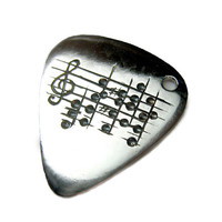 Your Song Guitar Pick Necklace  Custom by Ricksonjewellery on Etsy