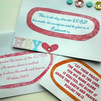 Bible Verse Greeting Cards - Hand Crafted Cards - Set of 3 - Blank on the inside - Envelopes included