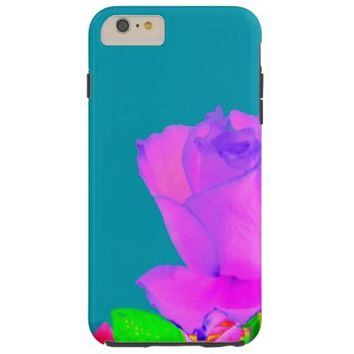 iPhone 6 case abstract magenta rose teal backgroun