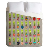 Bianca Green Pineapple Party Duvet Cover