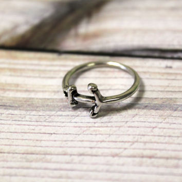 Anchor, Nautical, sailor, Midi ring, Ring, Knuckle Ring, By hot2own