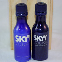 Salt and Pepper Shaker Upcycled from Skyy Mini Liquor Bottles