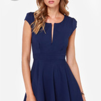 LULUS Exclusive Top Contender Navy Blue Dress