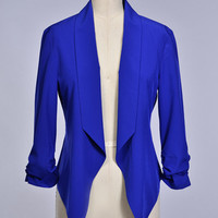 Let's Stroll Blazer - Royal Blue