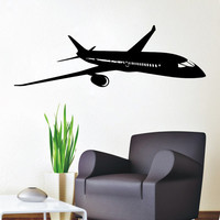 Wall Decals Plane Airplane Boeing Aircraft Vinyl Decal Sticker Home Art Mural Interior Design Boy Kids Nursery Baby Room Decor D85
