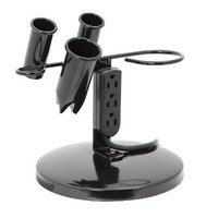 Saloniture Tabletop Blow Dryer & Hair Iron Holder - Salon Appliance Stand w/ 3 Outlets