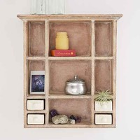 Ceramic Curio Shelf- Light Brown One
