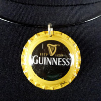 Bottle Cap Choker Necklace - Recycled Guinness - Supporting the Deaf in Ghana