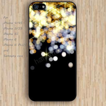 iPhone 6 case glitter golden lighting iphone case,ipod case,samsung galaxy case available plastic rubber case waterproof B057