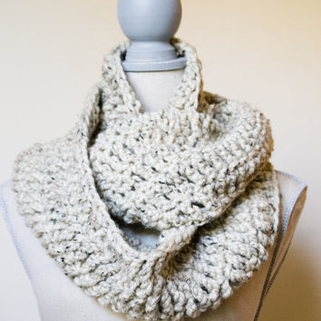 Oatmeal Infinity Cowl - Made to Order - FREE SHIPPING
